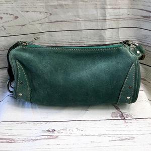 Ruehl No.925 green suede barrel bag